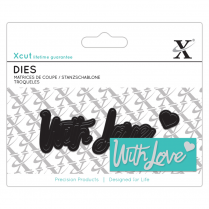 X-cut Mini Sentiment Die (3pcs) - With Love