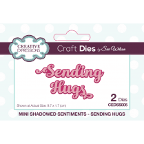 Sue Wilson Mini Shadowed Sentiments Sending Hugs