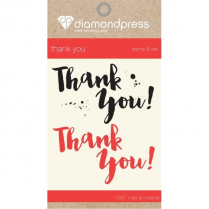 Diamond Press Mini Stamp & Die - Thank You