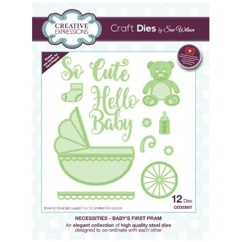 Sue Wilson Necessities Collection Babys First Pram Die