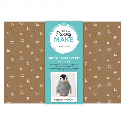 Docrafts NEEDLE FELTING KIT - SIMPLY MAKE - PENGUIN