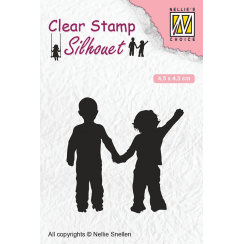 Nellie Snellen Clear Stamps Silhouette Childs Play - Close Friends