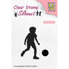 Nellie Snellen Clear Stamps Silhouette Childs Play - Football Player
