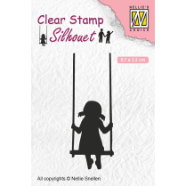 Nellie Snellen Clear Stamps Silhouette Childs Play - Swinging