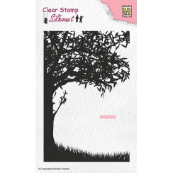 Nellie Snellen Clear Stamps Silhouette - Scene with Tree