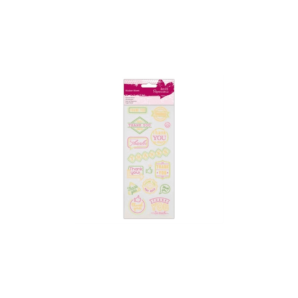 Happy Birthday for cards and crafts Do-Crafts Papermania Neon Glitter Stickers
