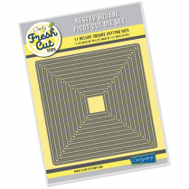 NESTED SQUARES PICOT CUT DIE SET  CLARITY FRESH CUT DIES