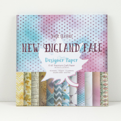 Clarity New England Fall - Four Seasons Collection - 8x8 Designer Paper Pad
