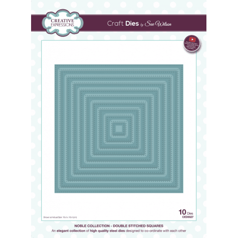 Sue Wilson Noble Collection Double Stitched Squares