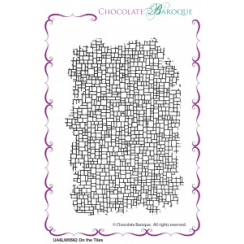 Chocolate Baroque On the Tiles individual unmounted rubber stamp - A6