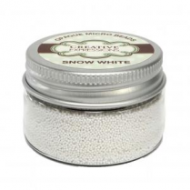 Creative Expressions Opaque Micro Beads Snow White - 30g