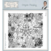 Phill Martin Ornate Paisley Pre Cut Rubber Stamp