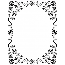 Creative Expressions Ornate Rose Frame