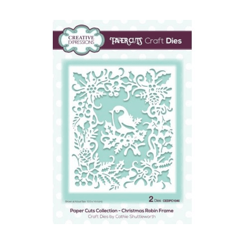 Creative Expressions Paper Cuts Collection - Christmas Robin Frame ...