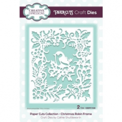 Creative Expressions Paper Cuts Collection - Christmas Robin Frame