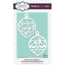 Creative Expressions Paper Cuts Collection Seasons Greetings Bauble Duo Craft Die