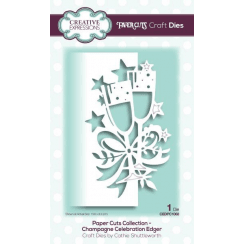 Creative Expressions Papercuts Craft Die-Champagne Celebration Edger