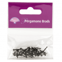 Pergamano Brads - 3mm Antique Silver