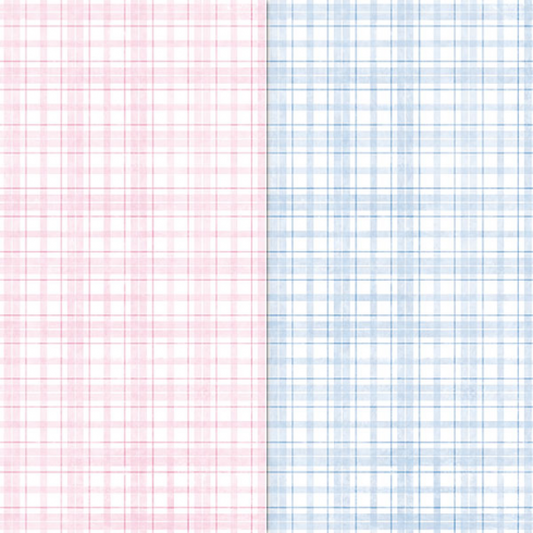 Craft Creations Pink & Blue Pastel Tartans Background