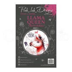 Pink Ink Designs Clear Stamp Llama Queen