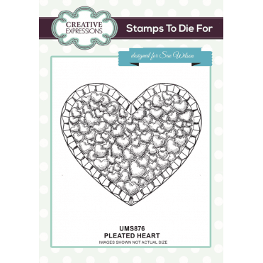 Sue Wilson Pleated Heart Pre Cut Stamp