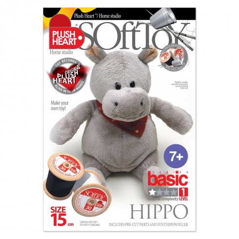 Plush Hearts - DIY Plush - Hippo Sitting 15cm