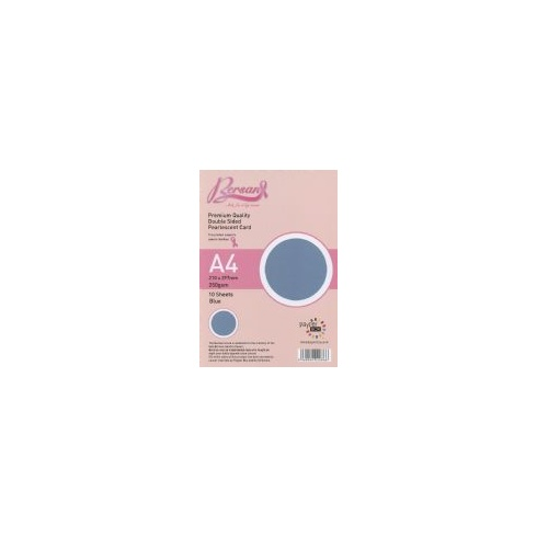 Bersan Premium Quality Double Sided Pearlescent Card - Blue