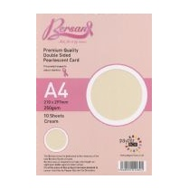 Bersan Premium Quality Double Sided Pearlescent Card - Cream