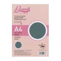 Bersan Premium Quality Double Sided Pearlescent Card - Green
