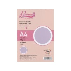 Bersan Premium Quality Double Sided Pearlescent Card - Lilac