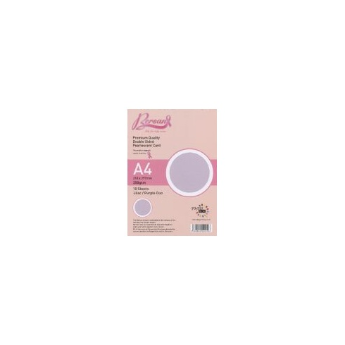 Bersan Premium Quality Double Sided Pearlescent Card - Lilac/Purple