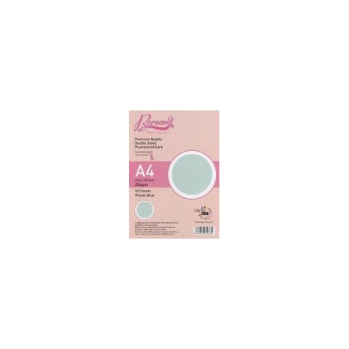 Bersan Premium Quality Double Sided Pearlescent Card - Pastel Blue