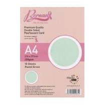 Bersan Premium Quality Double Sided Pearlescent Card - Pastel Green