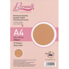 Bersan Premium Quality Double Sided Pearlescent Card - Rose Gold