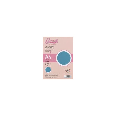 Bersan Premium Quality Double Sided Pearlescent Card - Turquoise