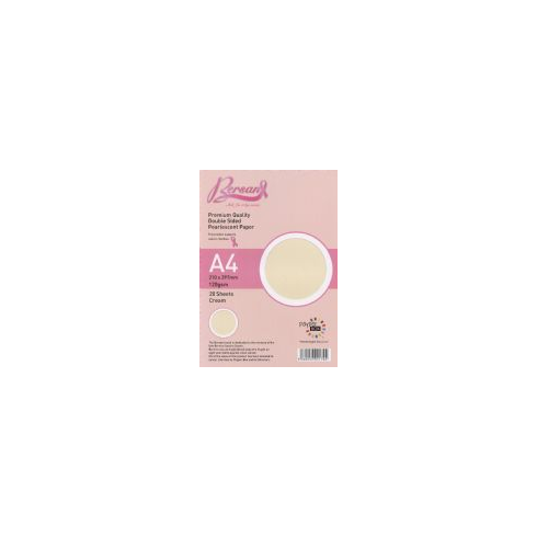 Bersan Premium Quality Double Sided Pearlescent Paper - Cream AA0494