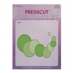 Presscut Cutting & Stitching Die - Oval (9pcs)