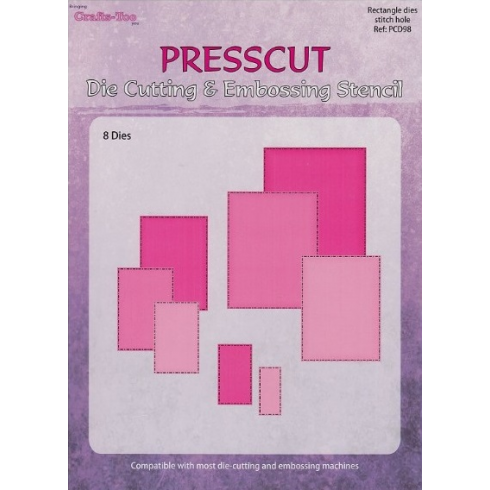 Presscut Cutting & Stitching Die - Rectangle (8pcs)