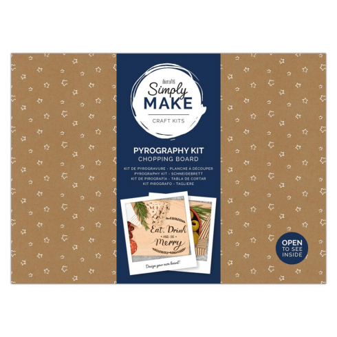 Docrafts PYROGRAPHY KIT - SIMPLY MAKE - CHOPPING BOARD