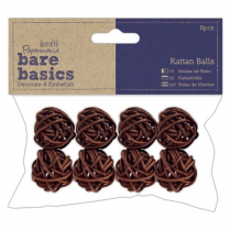 Papermania Rattan Balls (8pcs) - Small - Bare Basics