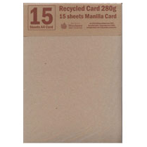Woodware RECYCLED A4 CARD