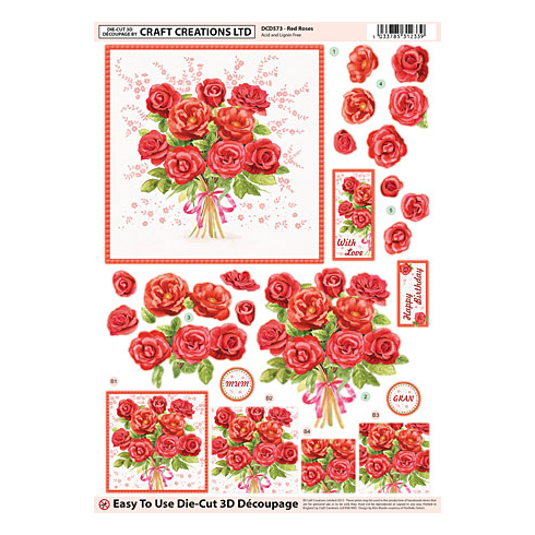 Craft Creations Red Roses