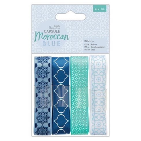 Docrafts Ribbon (4 x 1m) - Capsule - Moroccan Blue