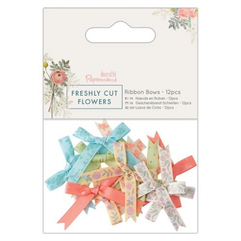 Docrafts Ribbon Bows (12pcs) - Freshly Cut Flowers