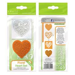 Tonic Studios Rococo Die & Stamp Set - Floral Heart