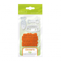 Tonic Studios ROCOCO - PETITE - DIE & STAMP SET - DINNERS UP