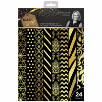 Crafters Companion Sara Signature Collection Black & Gold - A4 Luxury Foiled Pad