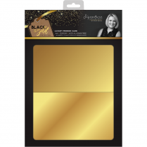 Crafters Companion Sara Signature Collection Black & Gold - A4 Luxury Mirror Card