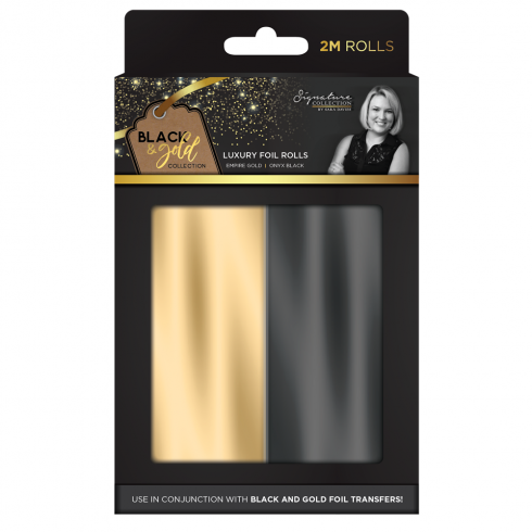 Crafters Companion Sara Signature Collection Black & Gold - Foil Rolls (2pk)