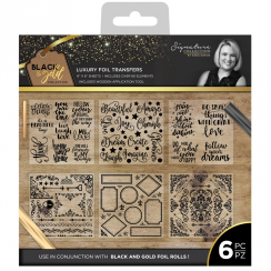Crafters Companion Sara Signature Collection Black & Gold - Foil Transfers (6pk)
